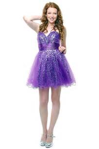 Purple short prom sparkly dresses 2016 for juniors prom party