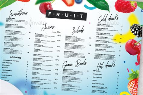 Juice Menu Card Templates by 54 Drink Menu Templates Free Psd Word Design Ideas