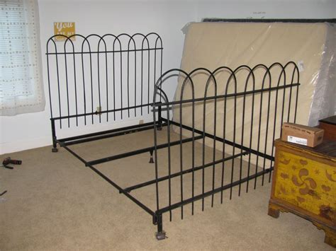 antique iron headboards queen antique hairpin wrought iron fence queen bed frame