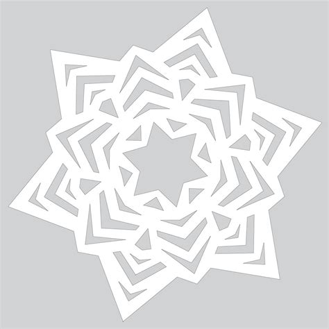 Paper Craft Tutorials Free - how to make easy snowflake ornament tutorial template