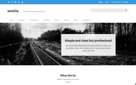 themes how i live now amalia responsive html themes business corporate