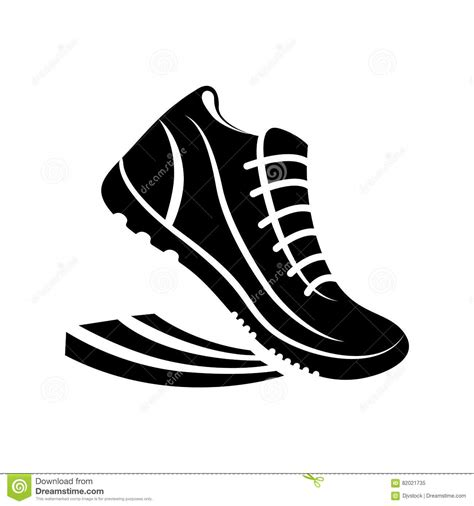 running shoes vector shoes running pictogram stock vector illustration of