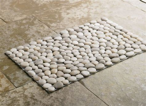 Pebble Bath Rug Black River Mat Eclectic Bath Mats By Vivaterra