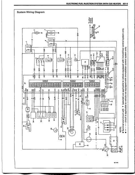 Suzuki Samurai 1992 Elektrisch Schema Vitara G16b 1 6i
