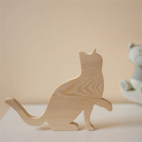 Wooden Ornament wooden cat ornament by wendover wood notonthehighstreet