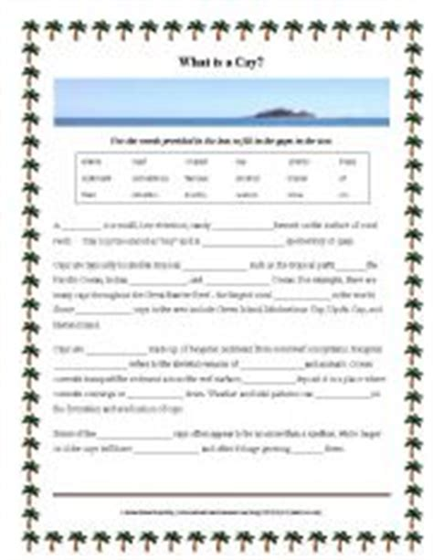 The Cay Vocabulary Worksheets worksheet what is a cay cloze activity