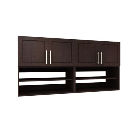 modifi 60 in w mocha brown open shelves laundry
