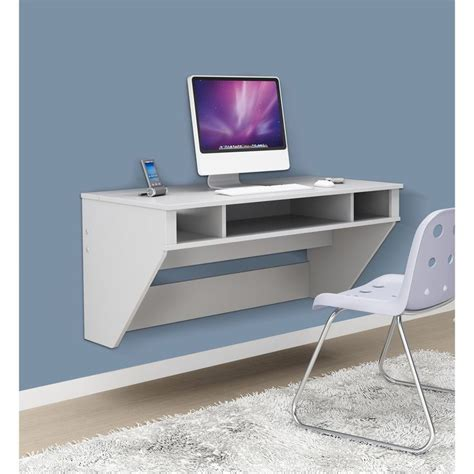 Desk Shopping Prepac Soho White Floating Desk