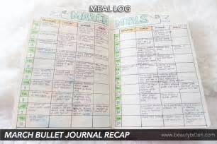 march recap amp april setup bullet journal beautybitten