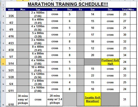 half marathon training template calendar template 2016