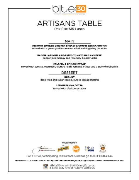 Artisans Table by Artisan S Table