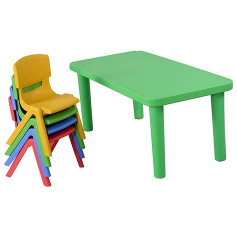 childrens plastic table and chairs bm plastic table and 4 chairs set colorful play