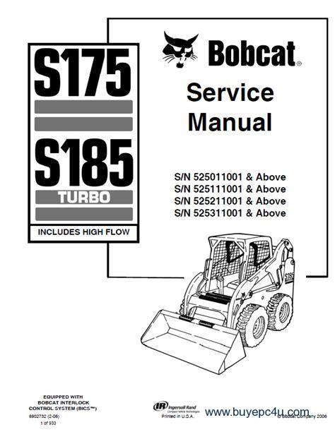 bobcat s185 parts diagram bobcat s175 s185 turbo 525 service manual pdf