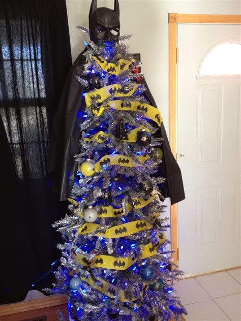 christmas tree decorated like batman batman christmas
