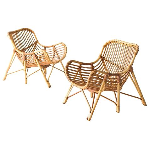 bamboo and wicker lounge chairs by laurids lonborg