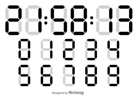 Angka Digital 2 Digit contador de n 250 meros digitais vetores e gr 225 ficos