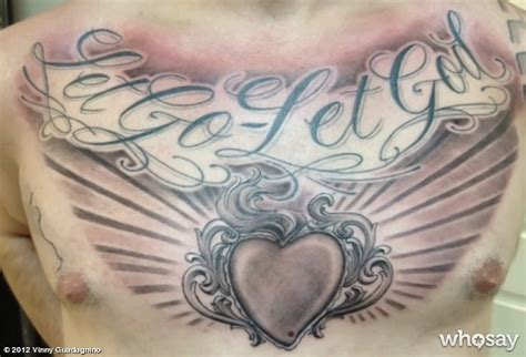 let go and let god tattoo photo vinny guadagnino adds to his quot let go let god