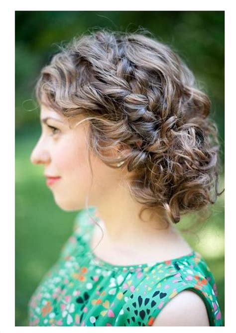 casual natural hairstyles casual or formal updo for curly brunette wedding