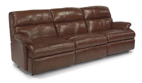 reclining sofa with center flexsteel triton three piece reclining sectional sofa with