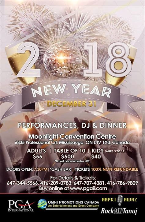 new year gala toronto new year 2018 in moonlight convention centre mississauga