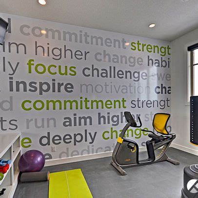 decoracion gimnasio hogar graphic wall decal is all about keeping you focussed e