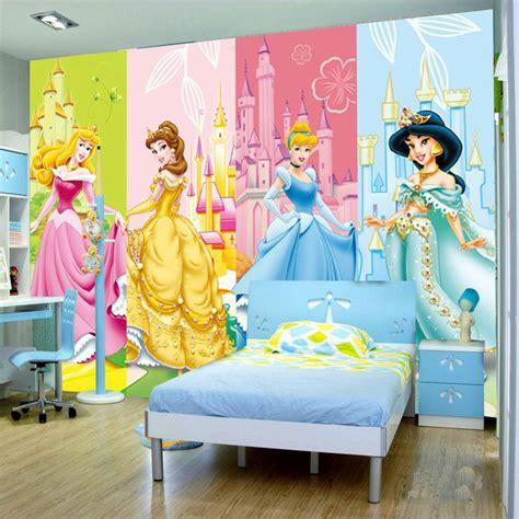 wall murals in kids bedroom warmojo com aliexpress com buy cartoon princesses wallpaper 3d photo