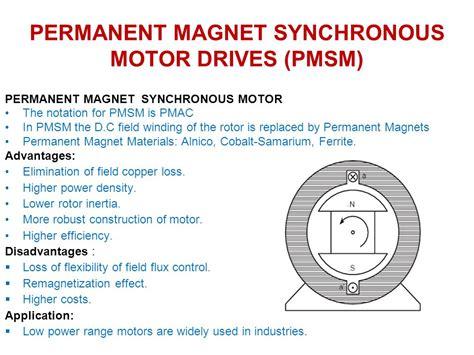 permanent magnet motor permanent magnet synchronous motor drives pmsm ppt