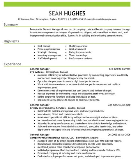 Great Cv by Excellent Exle Cv