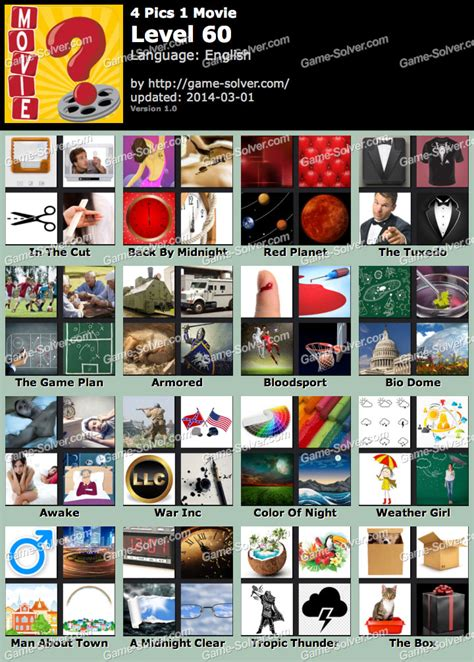 1 the new answers 0890515093 4 pics 1 level 60 game solver