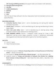 Be Mechanical Engineering Resume Mechanical Engineering Resume