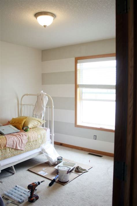 Gray Bedroom With Oak Trim Stripes With Oak Trim Baby Rooms Guest