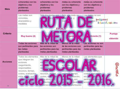 ejemplo de diagnostico de ruta de mejora preescolar ruta de mejora escolar ciclo 2015 2016 portada 3
