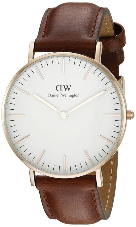 Gelang Daniel Wellington Stainless daniel wellington s 0507dw classic st mawes stainless steel with brown band reviews