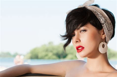 images of bob cut styled with bandanas retro hairstyles to look fantastic hairstyles haircuts
