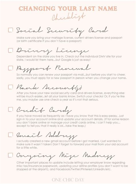 Getting Married Changing Your Last Name by Clearwater Wedding Officiant Archives A