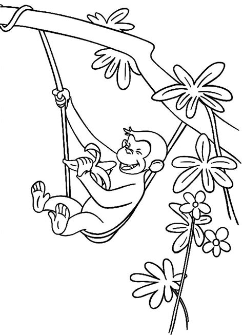 Curious George Coloring Pages Bestofcoloring Com Printable Curious George Coloring Pages