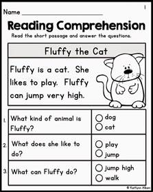 kindergarten reading comprehension worksheets kelpies