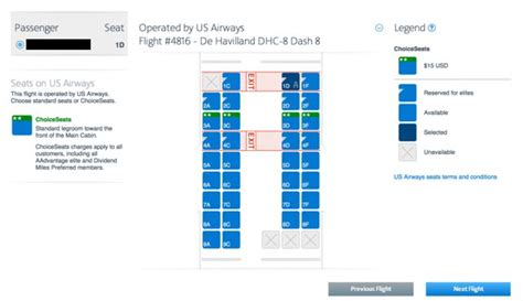 seat selection american airlines seat selection for us airways flights on aa now