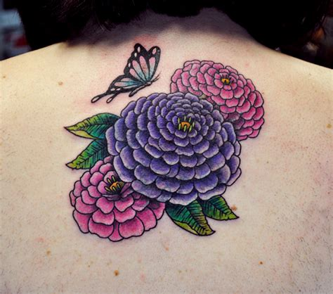 zinnia tattoo
