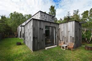 wood paneled forest homes modern forest house