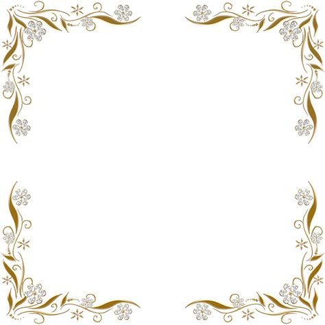 corner frame golden floral corners frame 2 by paw prints designs on