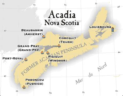 acadia canada map acadian genealogy homepage acadian maps new and