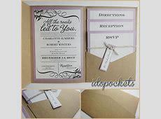 KRAFT WEDDING POCKET INVITATIONS DIY POCKETFOLD ENVELOPES ... Letter Sealing Wax Kit