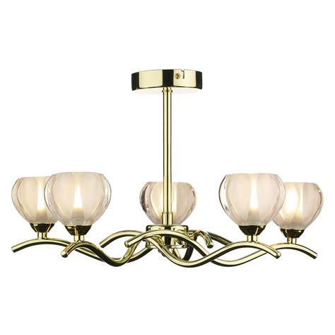 cynthia ceiling light polished brass 5 light