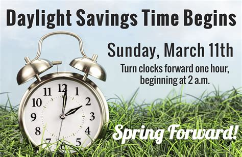Early Daylight Savings Changes by Set Clocks One Hour Ahead For Daylight Saving Time This