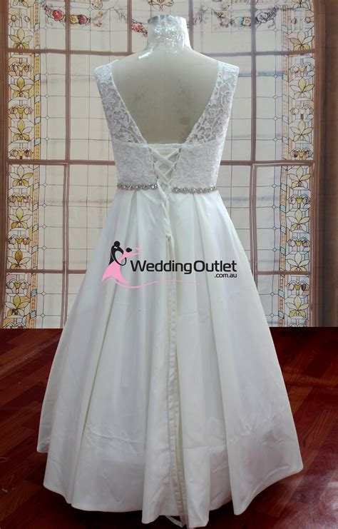 Aubree Beach Simple Lace Wedding Dress   WeddingOutlet.com.au