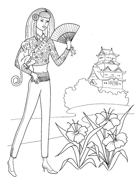 printable fashion coloring pages  adults