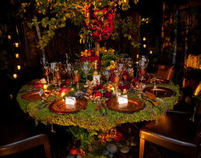 Enchanted Forest Table Decorations by A Whimsical And Outdoorsy Woodland Wedding Knot For