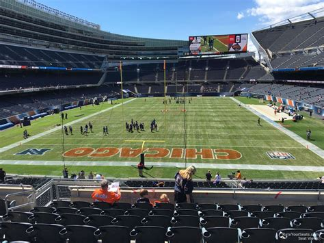 soldier field section 224 200 level colonnade soldier field football seating