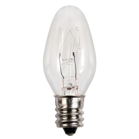 c7 light bulb base westinghouse c7 15 watt candelabra base incandescent l